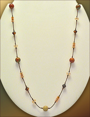Red Creek Floating Bead Necklace | Jewelry Design Ideas