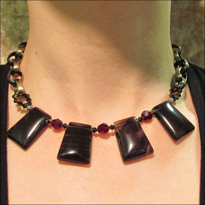 Ice Obsidian Necklace | Jewelry Design Ideas