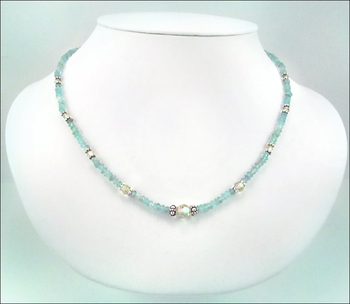 Summer Breeze Gemstone and Crystal Necklace | Jewelry Design Ideas