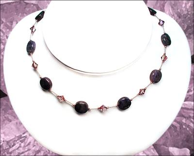 Darling Purple Dumortierite Knotted Silk Necklace | Jewelry Design Ideas