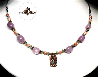 Lavender Amethyst Lotus Flower Necklace | Jewelry Design Ideas