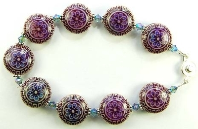 Color-changing Mirage Mood Bead and Swarovski Bicone Bracelet | Jewelry Project Kit Custom Kits