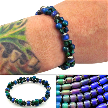 engaging illusion mood bead bracelet jewelry design ideas - Beaded Bracelet Design Ideas