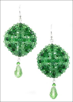 Green SuperDuo Earrings   Jewelry Design Ideas