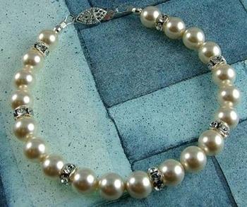 Classic Swarovski Pearl and Rhinestone Rondell Wedding Bracelet | Jewelry Project Kit Custom Kits