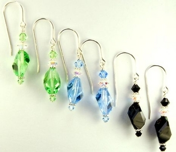 contemporary cubist crystal earrings jewelry design ideas