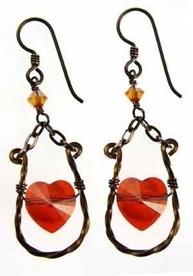 Artistically Wired Heart Earrings | Jewelry Design Ideas