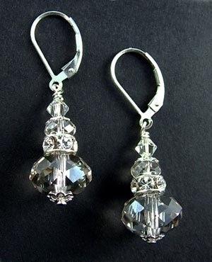 Image Crystal Silver Earrings