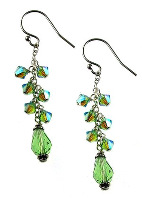 Cascading Swarovski Peridot Earrings | Custom-designed Earring Project Kit