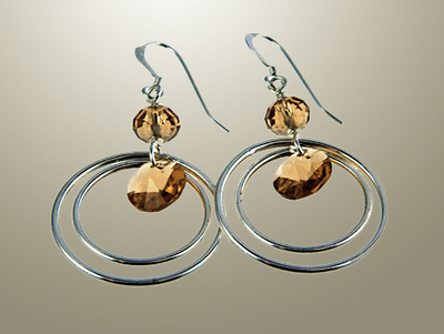 Circles Among Circles Earrings | Jewelry Design Ideas