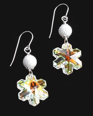 Let It Snow Swarovski Snowflake Earrings | Jewelry Project Kit Custom Kits
