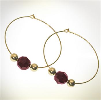 Crystal Garnet Earrings | Jewelry Design Ideas