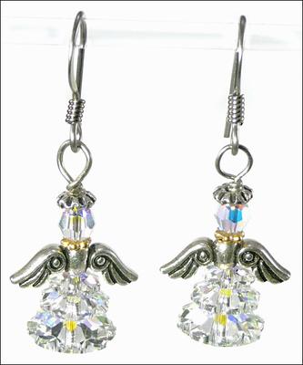 Adorable Angel Swarovski Crystal Earrings | Jewelry Project Kit Custom Kits