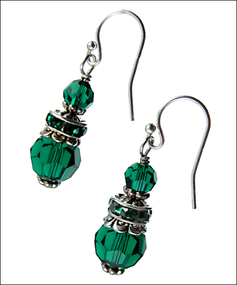 Emerald Valley Earrings Diy Jewelry Making Project Kit