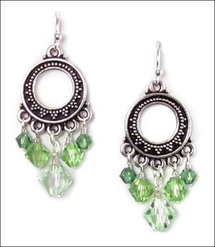Appealing Peridot Earrings   Custom-designed Earring Project Kit