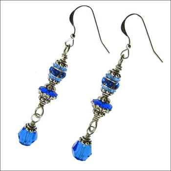 Alluring Sapphire Earrings | Custom-designed Earring Project Kit