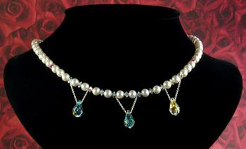 Crystal Dew Wedding Necklace | Jewelry Design Ideas