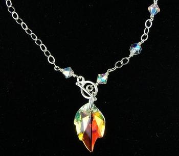 Crystal Leaf Necklace | Jewelry Design Ideas