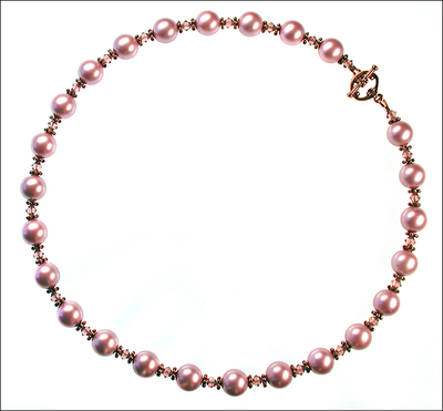 Powder Blush Rose Pearl & Crystal Necklace | Necklaces