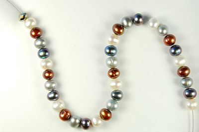 Snow, Sand, Ice Pearl and Crystal Necklace   Jewelry Design ...