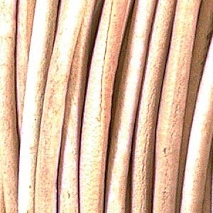 3mm round leather thong (India) natural Leather Cord | Leather Cord