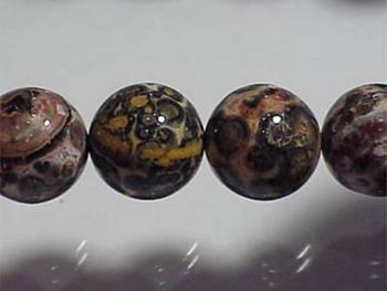 12mm Round Leopard Jasper Stone Bead - Mixed Tans and Browns | Natural Semiprecious Gemstone | Harlequin Beads and Jewelry