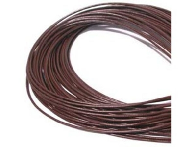 2mm round leather thong (Greece) brown Leather Cord | Leather Cord