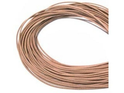 2mm round leather thong (Greece) natural Leather Cord   Leather Cord