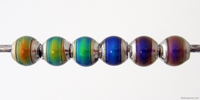 6mm Mirage Round Color-changing Mood Bead | Thermosensitive Specialty Beads