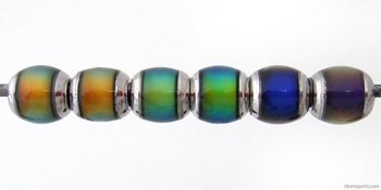 6 x 7mm Mirage Semiround Color-changing Mood Bead | Thermosensitive Specialty Beads
