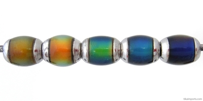 9 x 6mm Mirage Semi-round Color-changing Mood Bead | Thermosensitive Specialty Beads