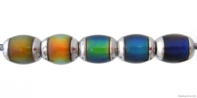 9 x 6mm Mirage Semi-round Color-changing Mood Beads   Thermosensitive Specialty Beads