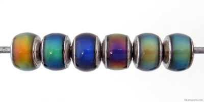 7 x 8mm Mirage Rondell Color-changing Mood Beads | Thermosensitive Specialty Beads