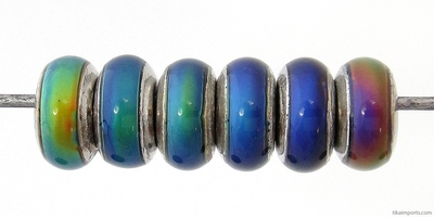 7 x 14mm Mirage Rondell Color-changing Mood Beads | Thermosensitive Specialty Beads