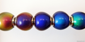 7 x 14mm Mirage Rondell Color-changing Mood Bead | Thermosensitive Specialty Beads