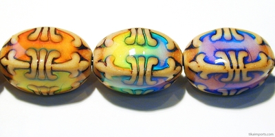 23 x 15mm Mirage Fleur de Lis Color-changing Mood Bead   Thermosensitive Specialty Beads
