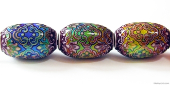 21.5 x 13mm Mirage Persian Beauty Color-changing Mood Bead | Thermosensitive Specialty Beads