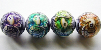 17.5 x 16mm Mirage Turtle Island Color-changing Mood Beads | Thermosensitive Specialty Beads