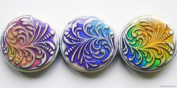23.5 x 7mm Mirage Fountain Fern Color-changing Mood Bead | Thermosensitive Specialty Beads