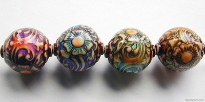 17 x 19mm Mirage Shangri-la Color-changing Mood Beads | Thermosensitive Specialty Beads