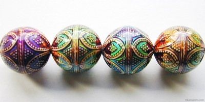 17mm Mirage Opulent Arches Color-changing Mood Bead   Thermosensitive Specialty Beads