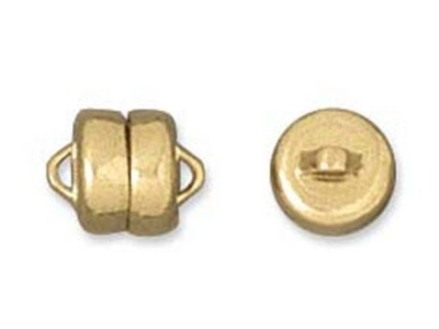 6mm Magnetic Clasp - Gold Finish - 12 Pack | Base Metal Jewelry Clasps | Findings