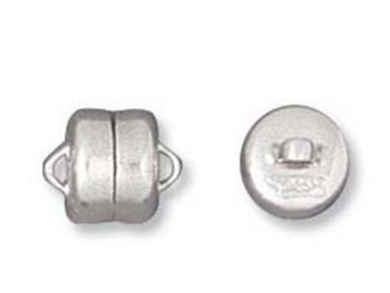 6mm Magnetic Clasp - Silver Finish   Base Metal Findings