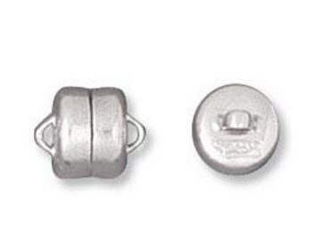 6mm Magnetic Clasp - Silver Finish - 12 Pack | Base Metal Jewelry Clasps | Findings