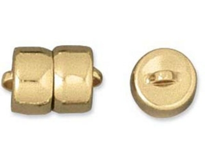 9mm Magnetic Clasp - Gold Finish - 12 Pack | Base Metal Jewelry Clasps | Findings