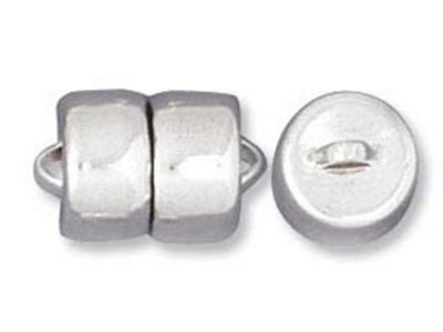9mm Magnetic Clasp - Silver Finish - 12 Pack | Base Metal Jewelry Clasps | Findings