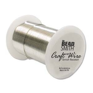 Craft Wire 18 gauge round silver | Craft Wire