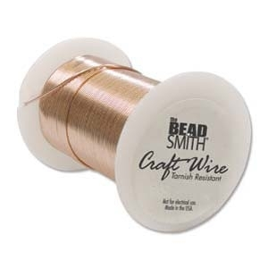 26 Gauge Round Copper Metal Craft Wire - Soft Non-Tarnish Copper Core - 34 Yards | Metal Wire for Wire-twisting and Wire-wrapping Jewelry and Crafts