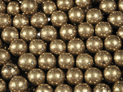 4mm Round Pyrite Stone Bead - Rich Gold | Fool's Gold | Natural Semiprecious Gemstone