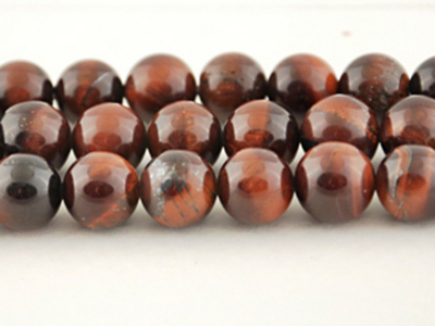 Red Tiger Eye 4mm round dark red | Red Tiger Eye